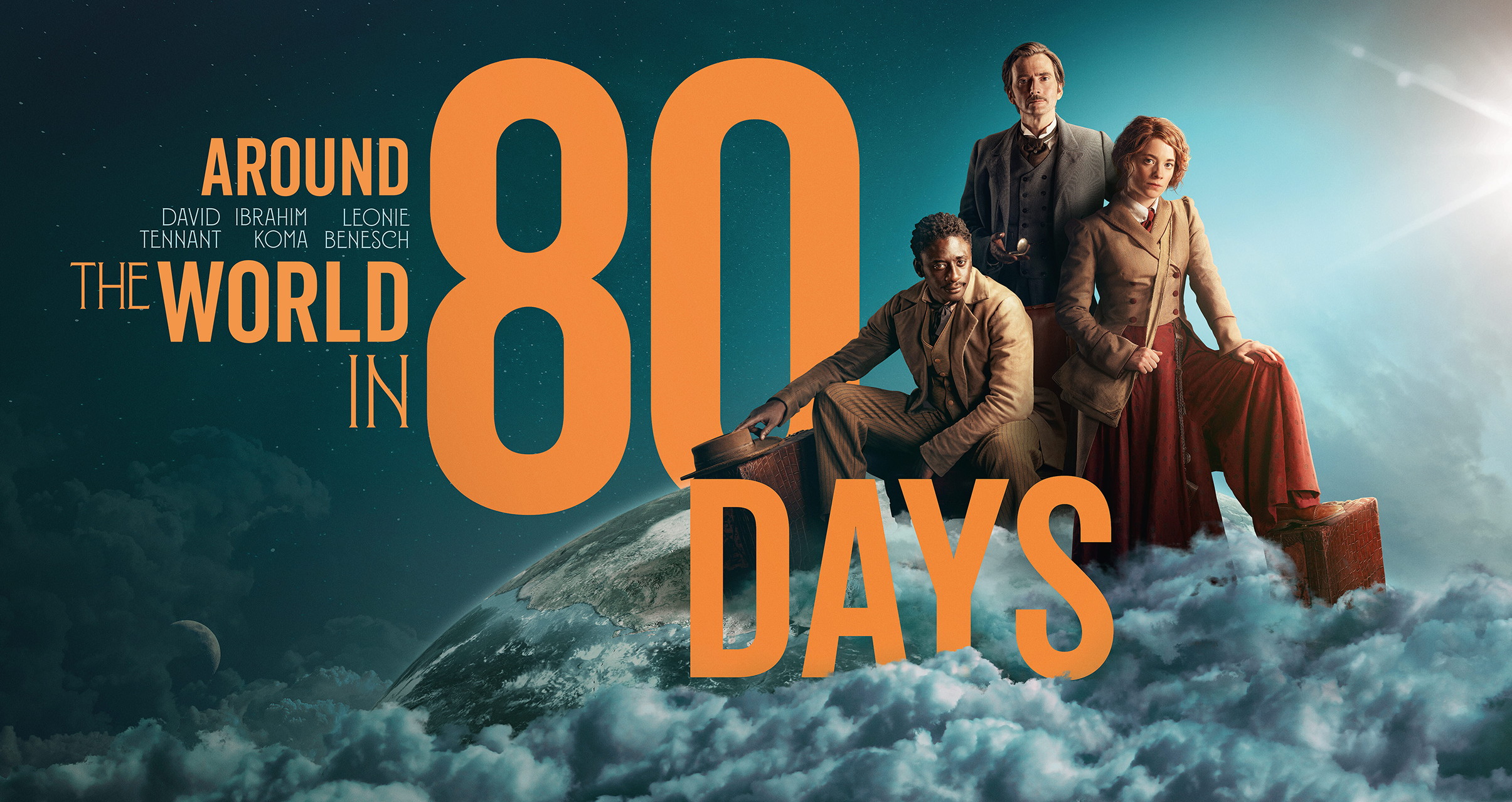 First Look Image - David Tennant, Ibrahim Koma and Leonie Benesch on their journey AROUND THE WORLD IN 80 DAYS - COMING TO SCREENS 2021